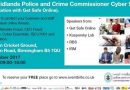 West Midlands Police and Crime Commissioner Cyber Summit – 31st October 2017