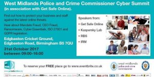 West Midlands Police and Crime Commissioner Cyber Summit
